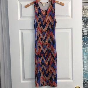 Arden B XS multi color midi dress